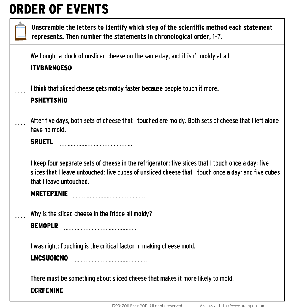 Printables Scientific Inquiry Worksheets science 5 homework assignments bobcat laboratories download file